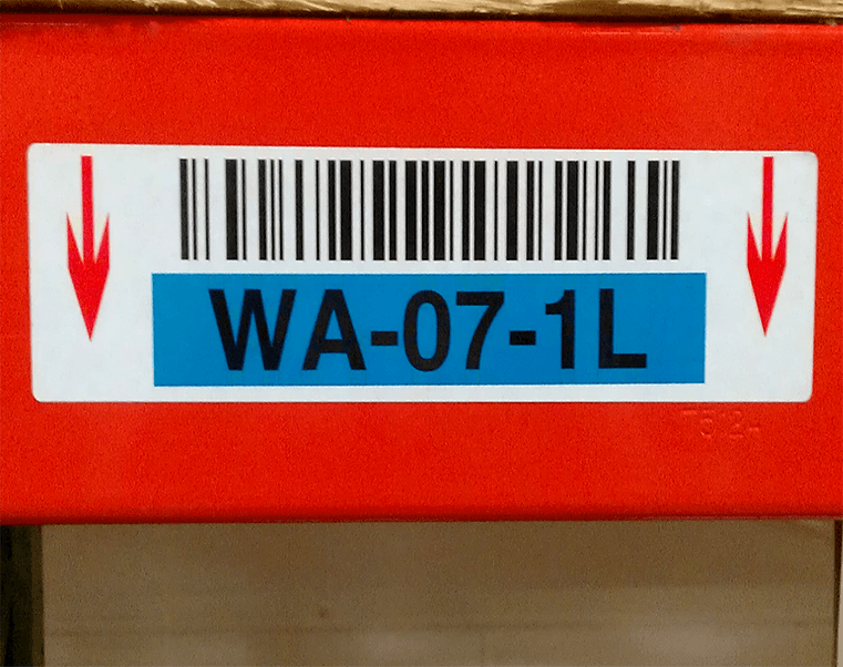 Beam or Rack labels with adhesives for harsh environment, cold storage, freezers