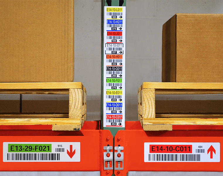 Legend labels can contain barcodes, arrow, and multiple colors